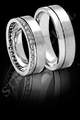 5e7bec21e96d ARGOLLAS de MATRIMONIO de oro blanco o platino con brillantes (El modelo   AM0016). Santiago