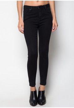 aa65f484a150 High-Waist Black Skinny Jeans from Penshoppe in black_1   Penshoppe ...