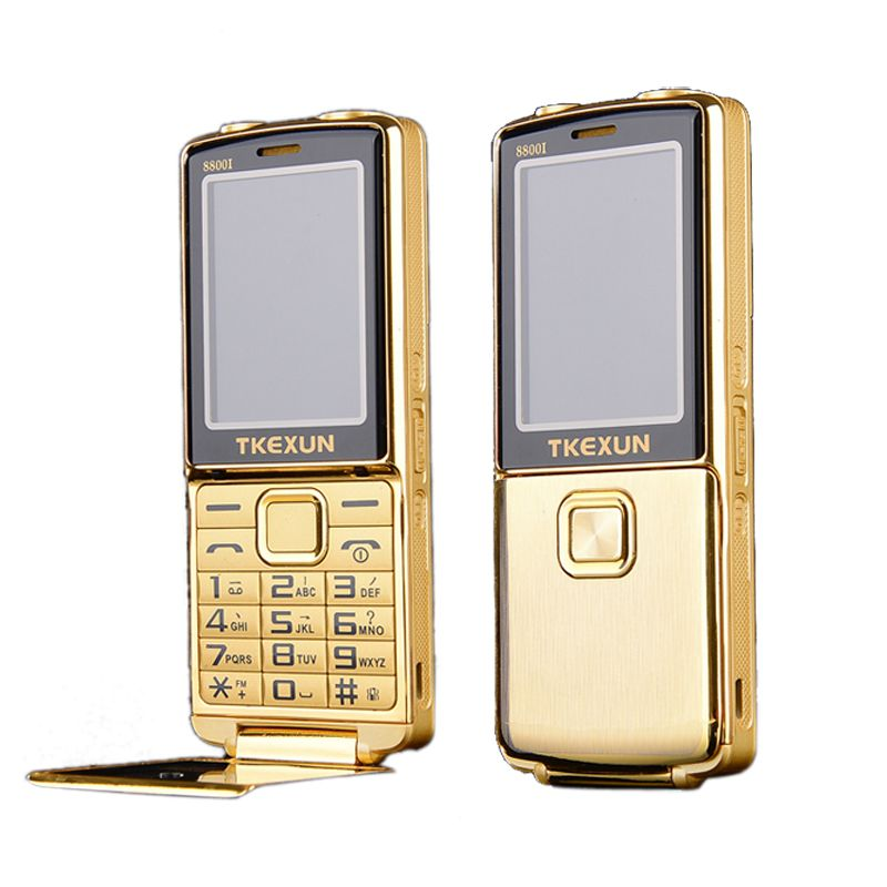 8800i One Key Dual Torch One Key Fm Bluetooth Sos Speed Dial Whatsapp Old Man Senior Unlocked Flip Metal Mobile Phone P210 Feature Phone Mobile Phone Phone