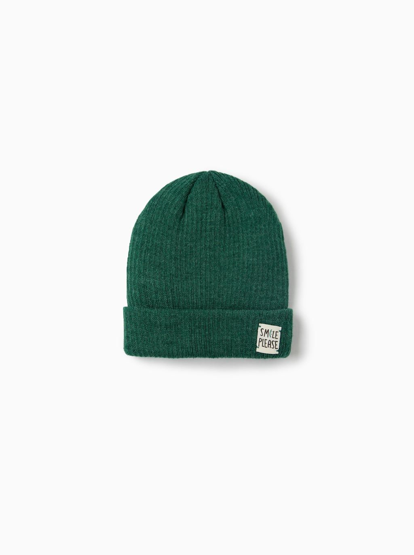 8274c8eb Cuffed ribbed cap with appliqué   Melodys christmas list   Baby boy ...