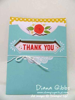 Pretty Pocket Card Sale-A-Bration Diana Gibbs