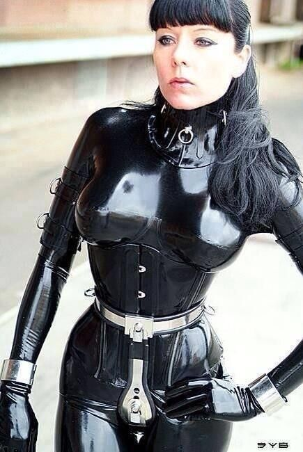 Latex chastity, teens fingering group