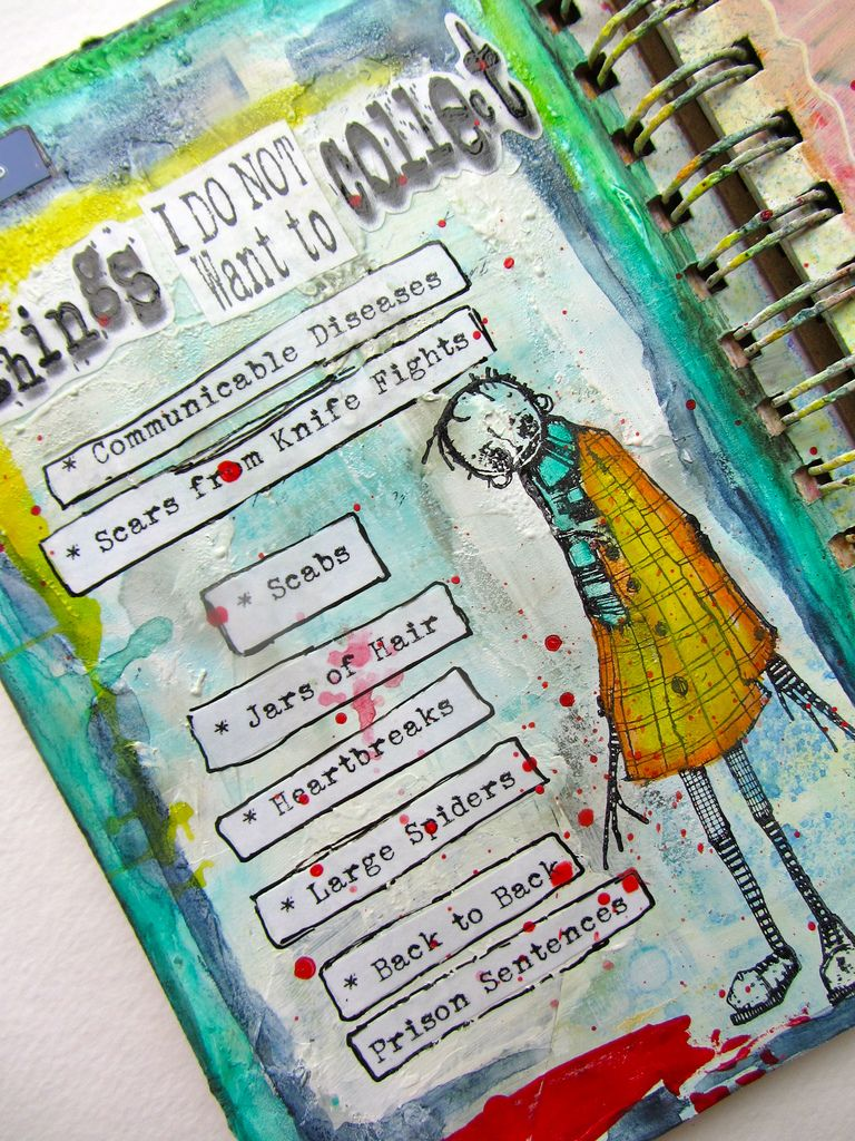 how to make an art journal step by step