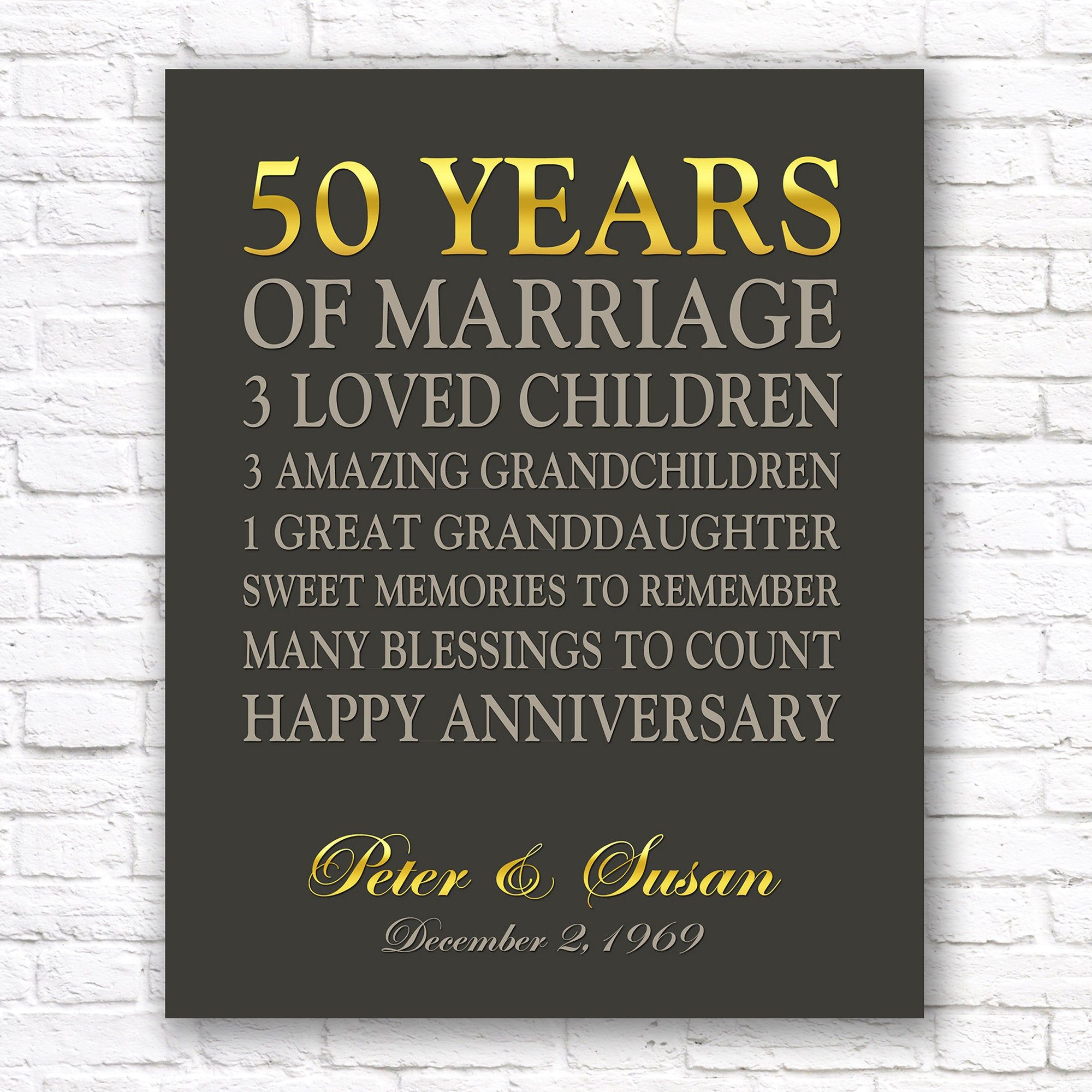 Custom 50th Anniversary Gift Gold Anniversary Printable 50 Etsy 50th Anniversary Gifts 50th Year Wedding Anniversary 50 Wedding Anniversary Gifts