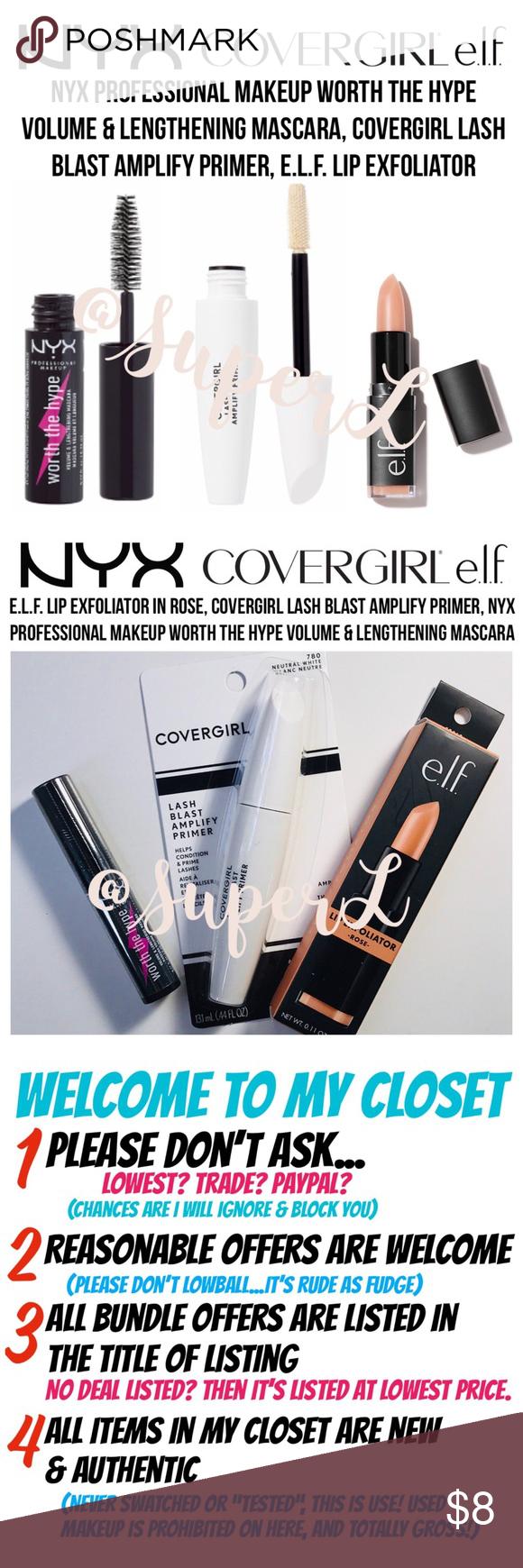3 15 Nyx Mascara Elf Lip Covergirl Primer Nyx Mascara Covergirl Primer Covergirl