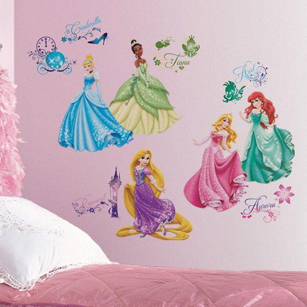 Adesivi Murali Per Bambini Disney.Adesivi Per Bambini Adesivi Murali Principesse Disney Royal