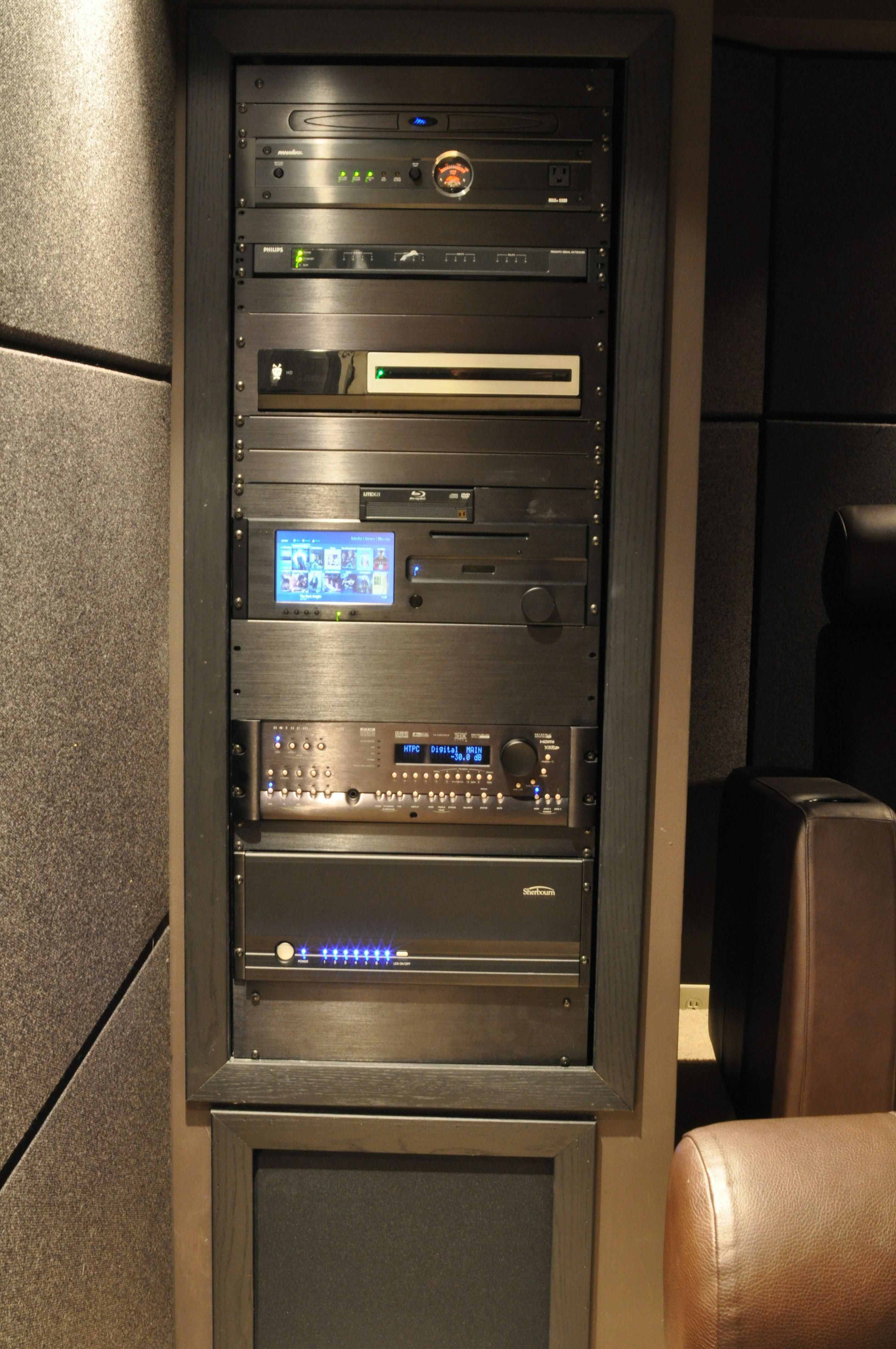 medium resolution of install the sub under the rack homeentertainmentinstallation