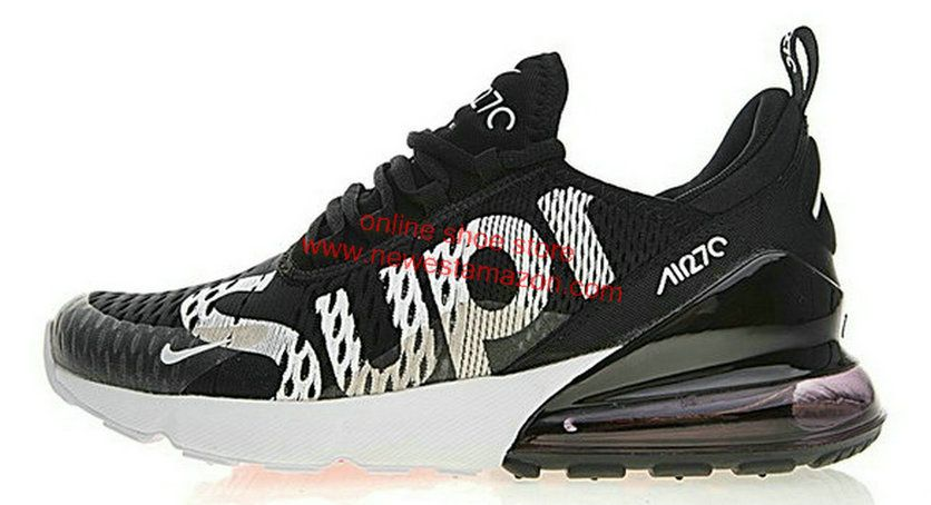 Discount Nike Air Max 270 X Supreme Black White Ah8050 001 Shoe ... 6fd3b4c5c