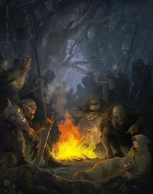 m Orc War Party w Captives at campsite forest hills Concept Art by ...