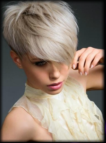 Platinum Blonde Pixie Crop