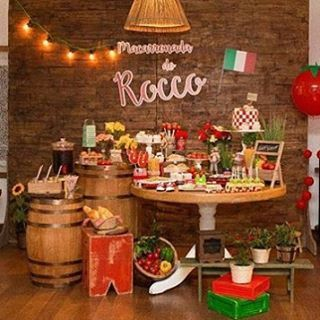 decoracion italiana menu despedida vivi pinterest