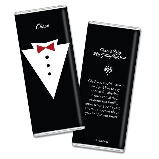 Personalized Chocolate Bar Groom S Tuxedo Wedding Favors Party