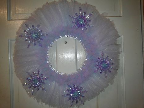 Winter ice tulle wreath