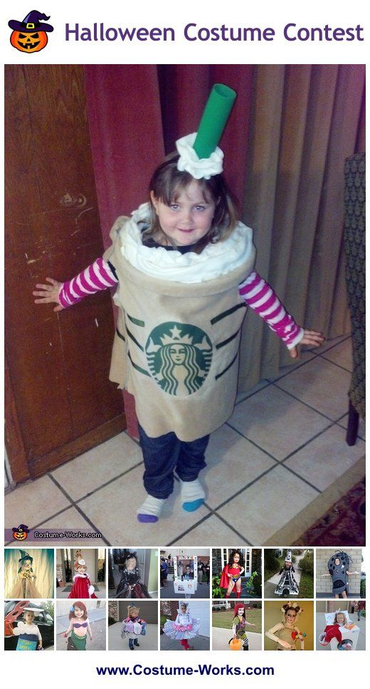 Starbucks Frappuccino - a lot of homemade costume ideas for girls!  sc 1 st  Pinterest & Homemade Costumes for Girls | Homemade costumes Costumes and Diy ...