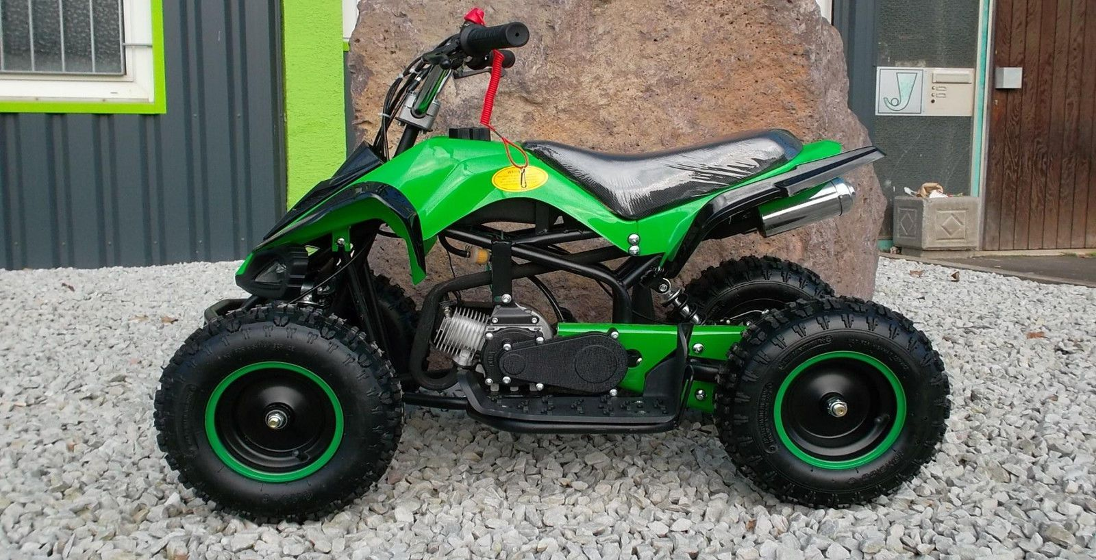 Details Zu Kinderquad 6 Zoll Quad Atv Miniquad Kinder Pocketbike Dirt Bike Pocketquad 49