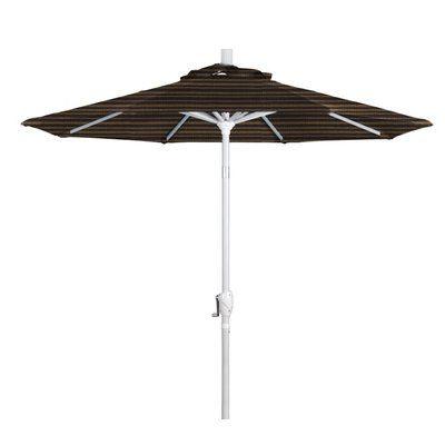 California Umbrella 7.5' Market Umbrella Frame Finish: Matte White, Color: Terrace Sequoia