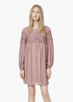 Guipure Panel Dress from Mango R1099,00