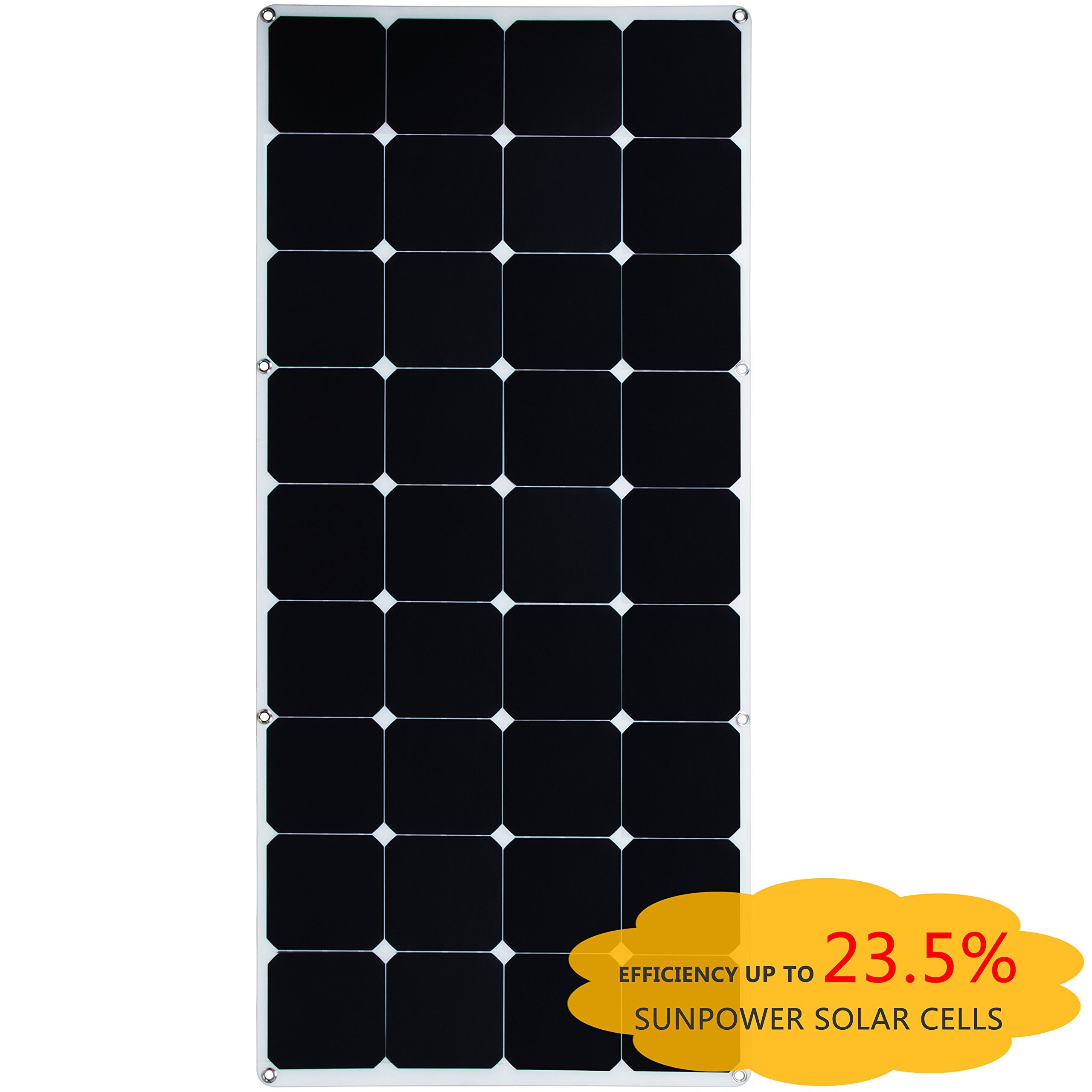 Amazon Com Kingsolar 120w Sunpower Semi Flexible Solar Panel Bendable Solar Panel For Boat Yacht Roof Solar Panels Flexible Solar Panels Solar Power House