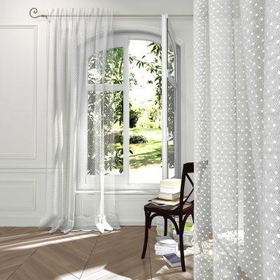 voilage plumetis pr ts poser galon fronceur pour. Black Bedroom Furniture Sets. Home Design Ideas