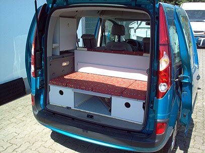c tech campingvan minicamper renault kangoo camper camping betten pinterest. Black Bedroom Furniture Sets. Home Design Ideas