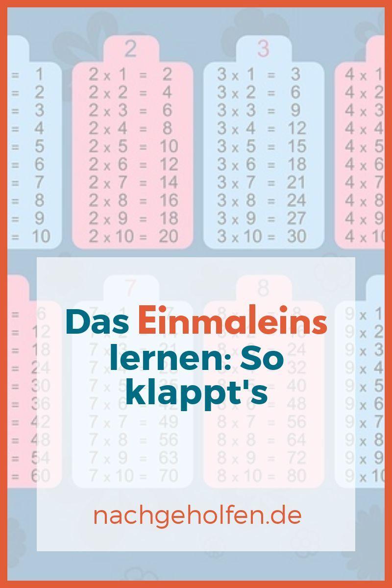 Das Einmaleins lernen: So klappt's - nachgeholfen.de