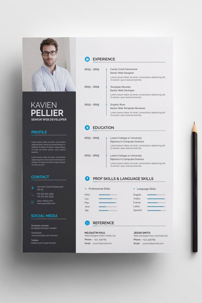Clean And Creative Kavien Pellier Resume Template 71008 With