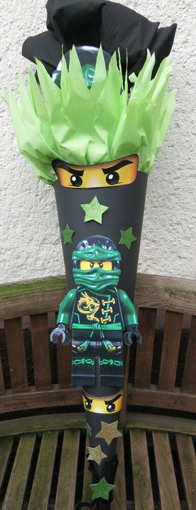 Schultüte Ninjago Junge Zuckertüte Hero Handarbeit Unikat Ranzen 100cm grün