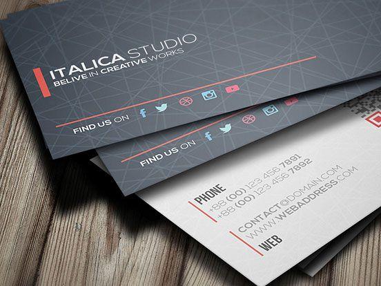 Italica Studio Business Card Business Card Transparent