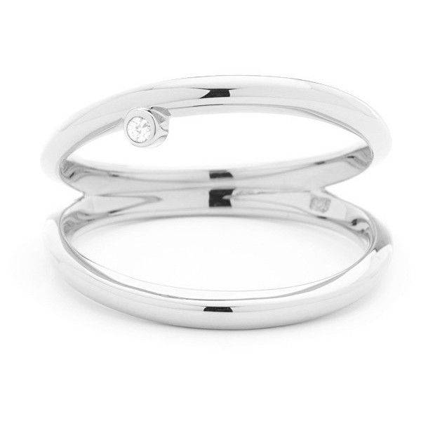 Double Grace Ring Silver (205.030 COP) ❤ liked on Polyvore featuring jewelry, rings, polish silver jewelry, silver jewelry, polish jewelry, silver rings and silver jewellery