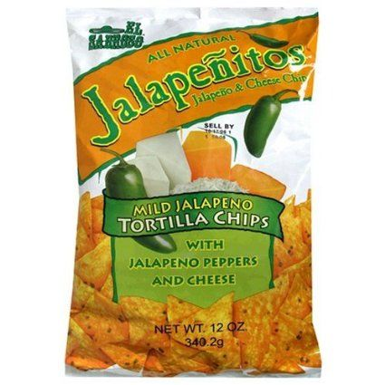 All Natural Jalapenitos Nacho Chips with 3 Cheeses & Real Jalapeno - Flavored Tortilla Chips - 12 oz