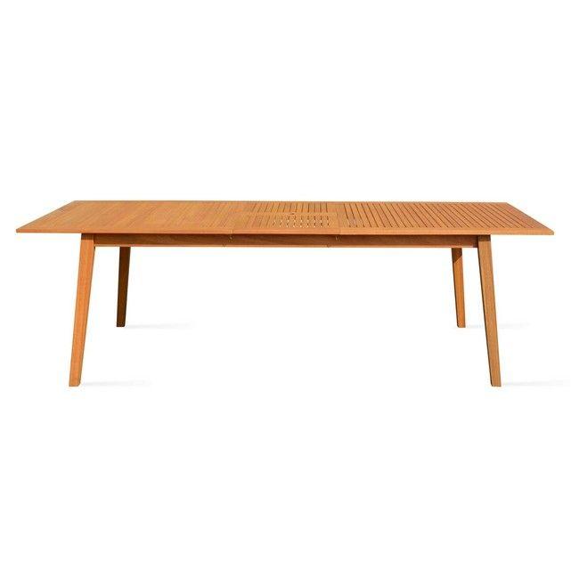 Table de jardin en bois extensible 200-250cm | Table de jardin ...