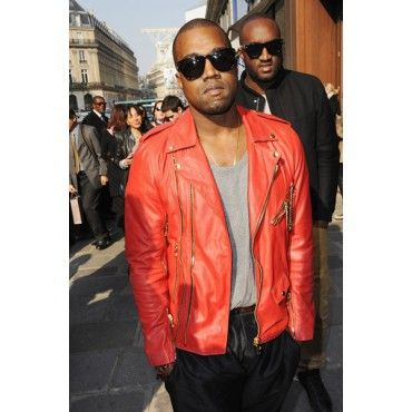Kanye West Outerwear Red Leather Jacket Red Leather Jacket Kanye West Leather Jacket