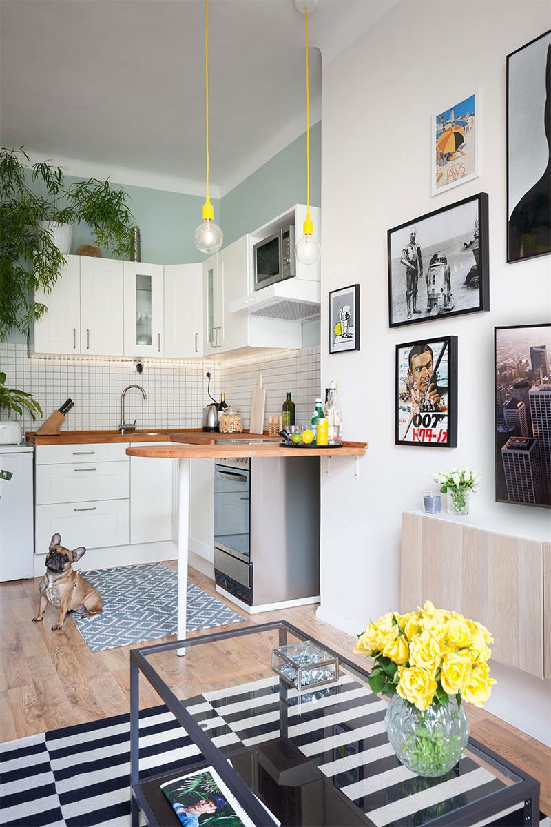 Apartamento pequeno com decoração simples, mas apaixonante | Sala de ...