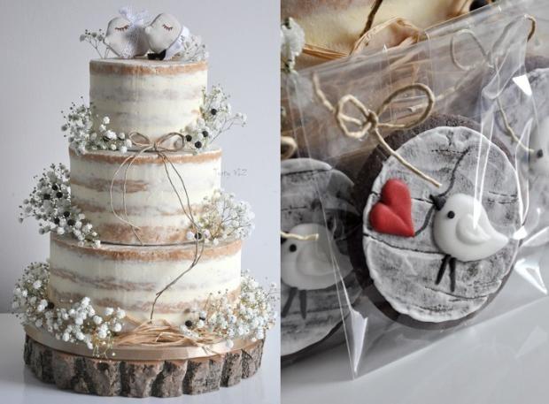 Svadobná nahá torta a sugar cookies - Autorka: vieruska116