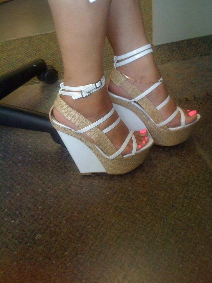 Cute wedge heels - Who in their right mind doesn't like #wedgeheels? I #Love um! ;D