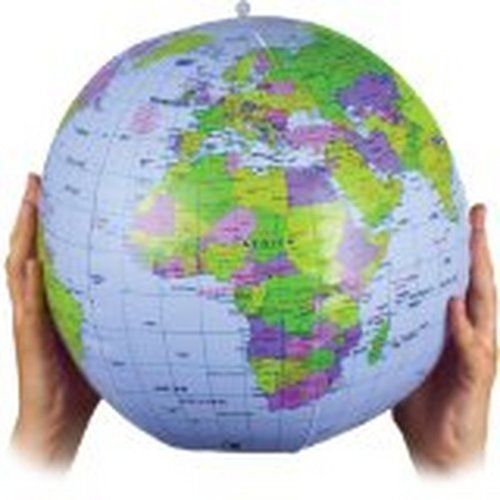 Inflatable blow up world earth map globe 40cm new inflatable blow up world earth map globe 40cm gumiabroncs Image collections
