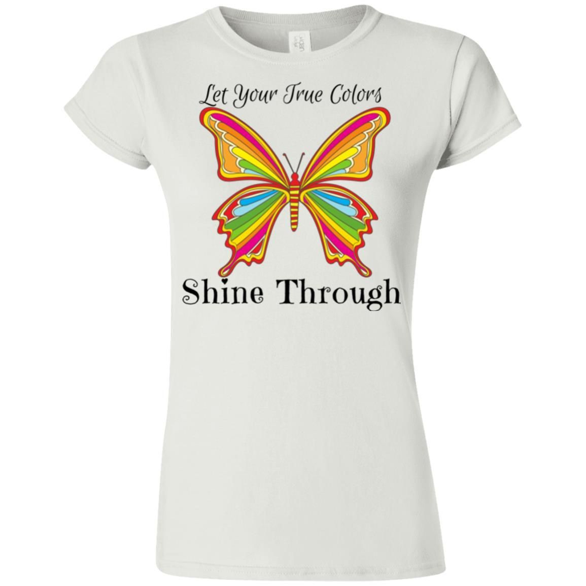 bdd9f9f6bf3e True Colors - Gildan Softstyle Ladies' T-Shirt positive quotes,positive  quotes for