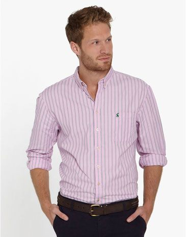 Joules NAUGHTON Mens Striped Shirt, Pink. Get set for stripes this ...