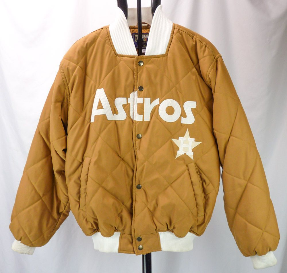 Vintage 90s Houston Astros Mlb Quilted Puffer Coat Jacket Cooperstown Majestic L Puffer Coat Jackets Coats Jackets