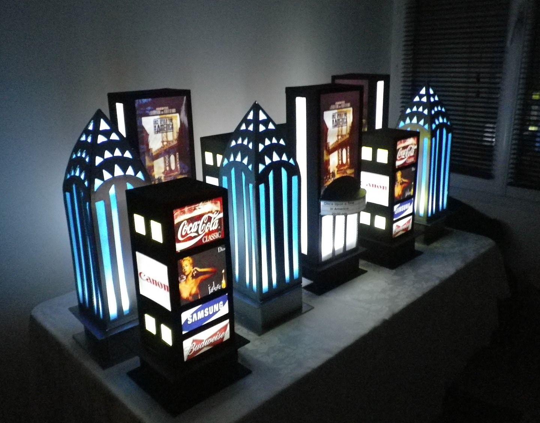 Centre De Table Theme New York Broadway Accessoires De