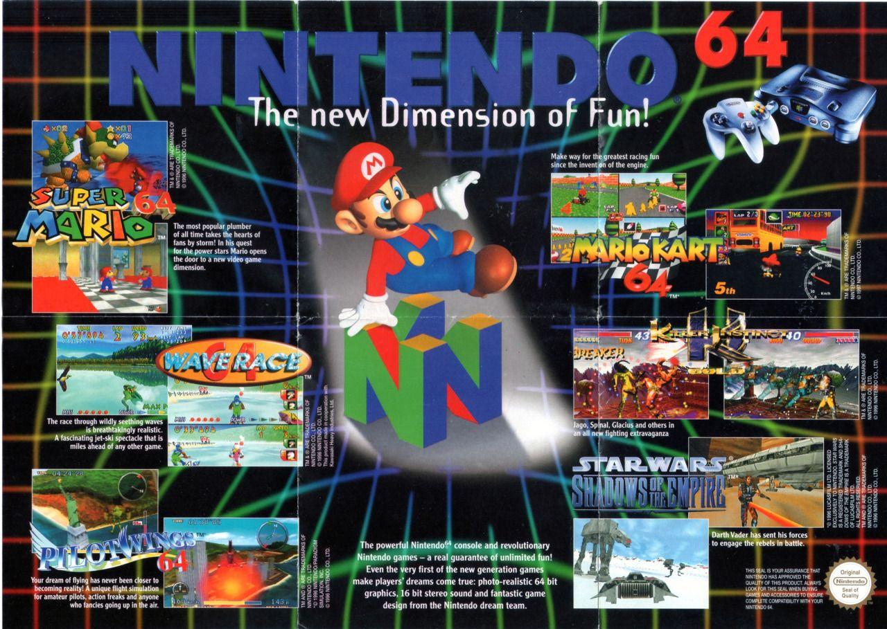 Nintendo 64. The New Dimension Of Fun! Retro video games