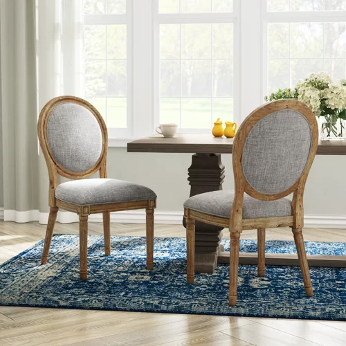 Ophelia Co Lachance Rectangular Upholstered Dining Chair Reviews Wayfair In 2020 Dining Chairs Upholstered Side Chair Solid Wood Dining Table