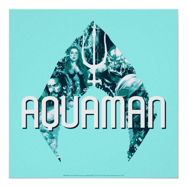 Aquaman  Orin, Mera, Orm & Black Manta In Symbol Poster ,
