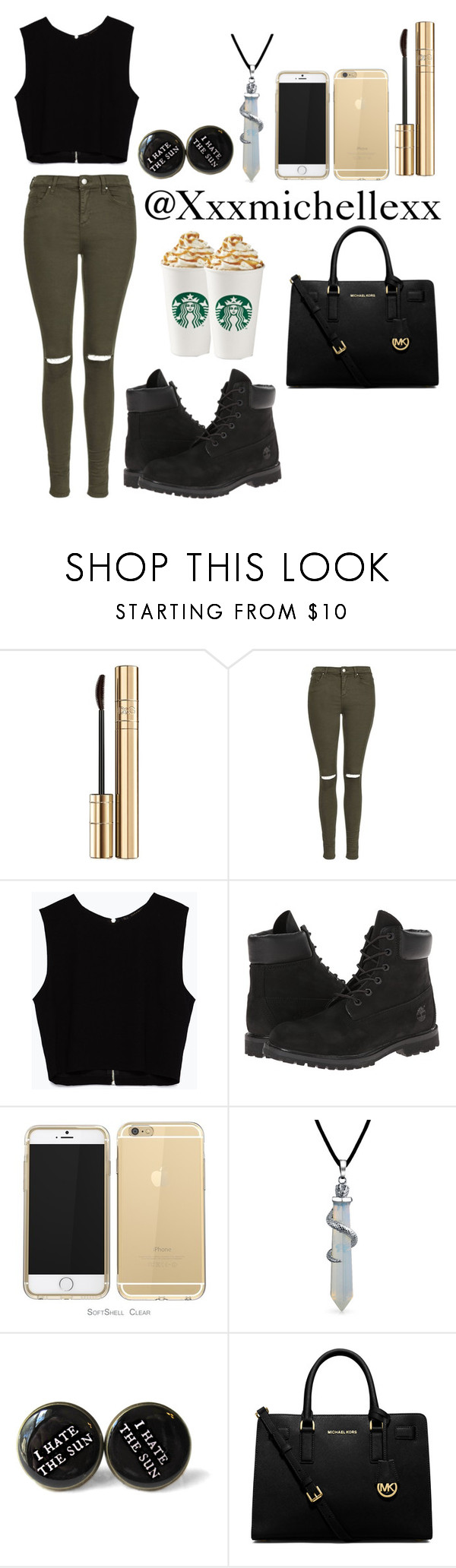 """""""Starbucks date"""" by xxxmichellexx ❤ liked on Polyvore featuring Dolce&Gabbana, Topshop, Zara, Timberland, Bling Jewelry, MICHAEL Michael Kors, women's clothing, women's fashion, women and female"""