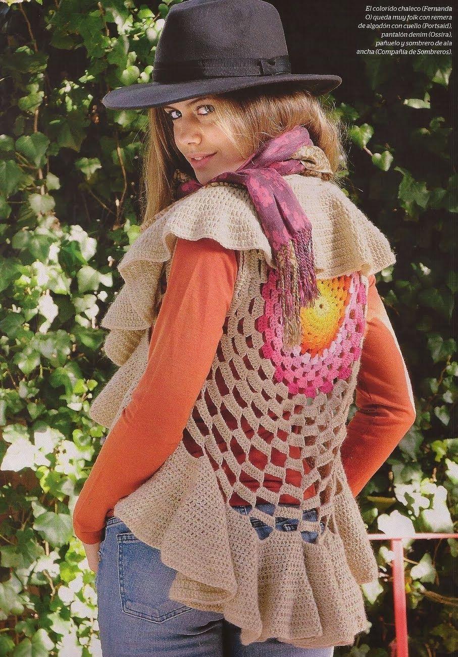 Bolero Calado con Ondas Circular Patron - Patrones Crochet ...