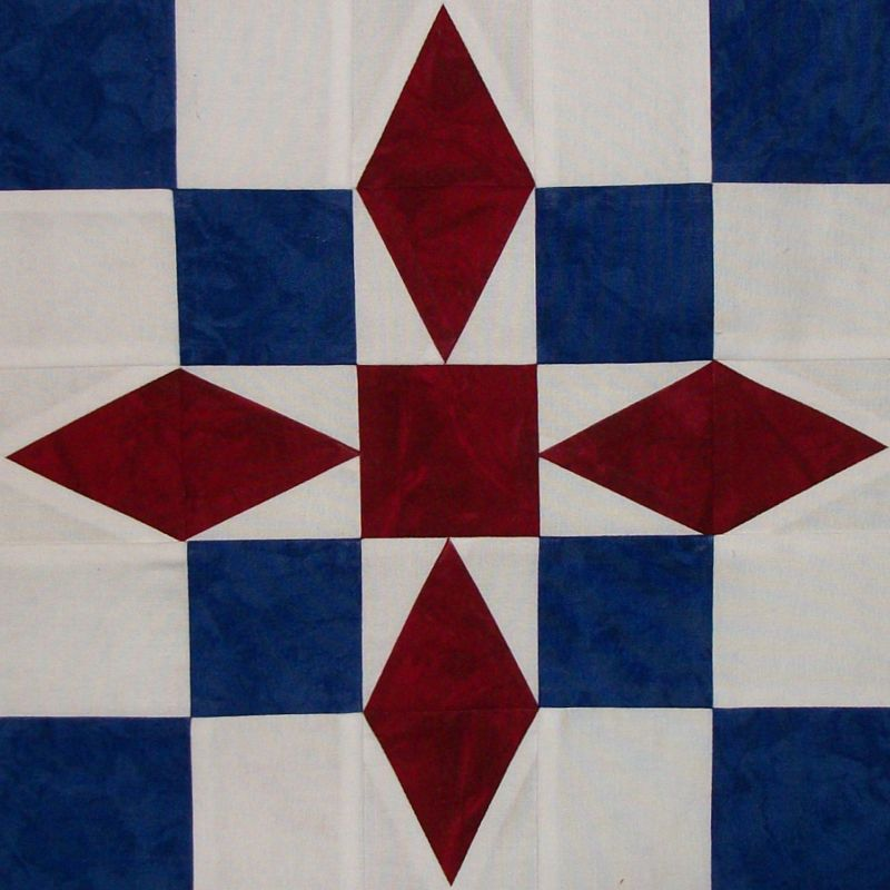 Red, White and Blue Blog Hop | Barn quilts, Stuffing and Barn : red and blue quilt - Adamdwight.com