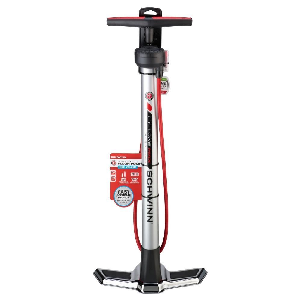 Schwinn Cyclone Max Bike Pump - Silver, Gray | Bike pump and Products