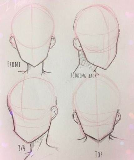 Drawing Tutorial Head Anime 26 Trendy Ideas Drawing Tutorial Face Anime Drawings Tutorials Pencil Drawings For Beginners
