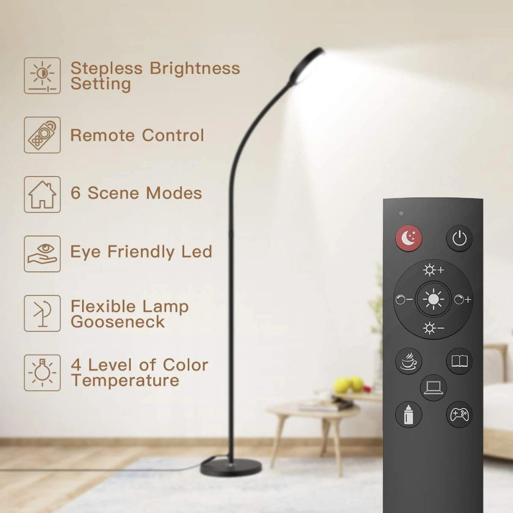 Floor Lamp Remote Touch Control 2500k 6000k Led Floor Lamp For
