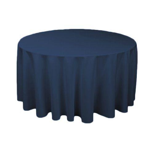 120 in. Round Polyester Tablecloth Navy Blue by LinenTablecloth, http://www.amazon.com/dp/B008TKS2Y4/ref=cm_sw_r_pi_dp_kUB9rb0TGRYWR
